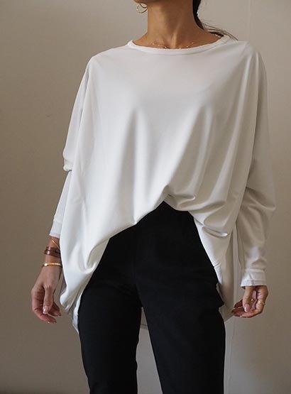 K. dolman sleeve blouse white