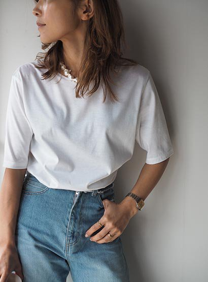 K. basic mode t-shirt white