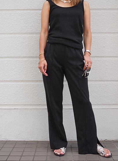 1/7 Side vent pants black