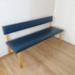 Alvar Aalto bench chair blue