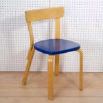 Alvar Aalto Chair 69 1950's blue 01
