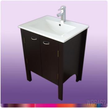 Ambest 60cm幅木目化粧キャビネットと60cm幅洗面器水栓セット WP6462