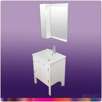 Ambest 60cm幅白化粧收納と洗面器水栓セットと白ミラー收納セット WP6467