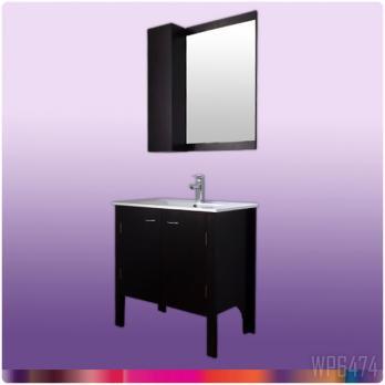 Ambest 75cm幅木目化粧收納と洗面器水栓セットとミラー收納セット WP6474