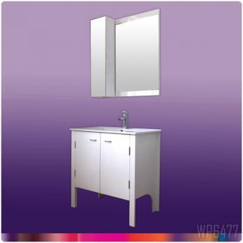 Ambest 75cm幅白化粧收納と洗面器水栓セットと白ミラー收納セット WP6477