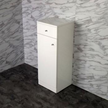 Ambest 30x80cmスペース十分な白いサイドキャビネット収納棚 CT3080