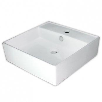 Ambest白陶器デザイン角型洗面化粧用カウンター洗面器ボウルSL3640