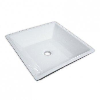 Ambest白陶器方形洗面器SL7073