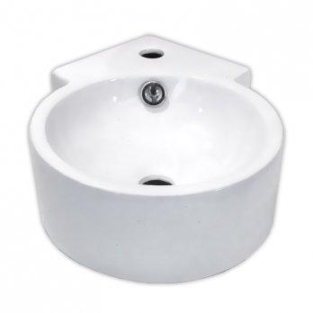 Ambest白陶器狭小トイレ用円型コーナー壁掛け手洗い洗面器SL9133