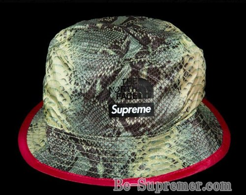 Supreme シュプリーム 18SS The North Face Snakeskin Packable Reversible Crusher  Hat ノースフェイスハット グリーン 7a2a05e306eb