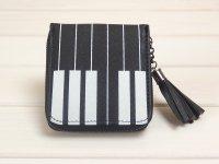 鍵盤柄 カードとお札入れ財布