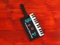 ピアノ鍵盤 トラベルタグ
