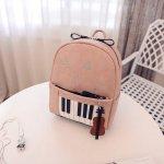ピアノ鍵盤柄 リュックサック ピンク