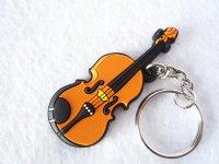 バイオリン ラバーキーホルダー