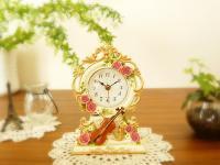 バイオリンとサックスの置き時計