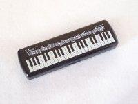 ピアノ鍵盤柄 プラスチックペンケース