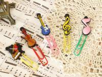 楽器と音符のクリップ 5個セット