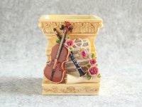バイオリンとクラリネットのペンスタンド