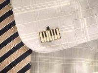 鍵盤モチーフ カフスボタン