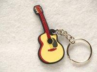 アコースティックギター ラバーキーホルダー