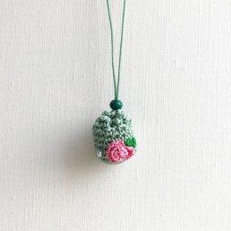 アロマペンダント<br />ポッシュ・ド・アロマ ミニ<br />ガーデングリーン×ピンクバラ×パール アベンチュリン緑