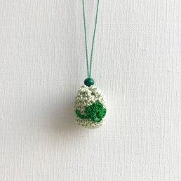 アロマペンダント<br />ポッシュ・ド・アロマ ミニ<br />若草×四葉のクローバー×水晶 アベンチュリン緑
