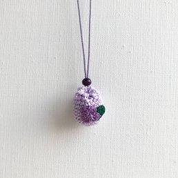 アロマペンダント<br />ポッシュ・ド・アロマ ミニ<br />薄紫×紫のスミレの花×アメジスト アメジスト
