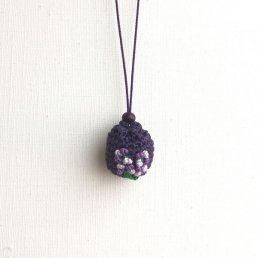 アロマペンダント<br />ポッシュ・ド・アロマ ミニ<br />濃紫×ラベンダーの花×アメジスト