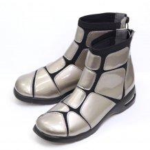 スーパーストレッチ ショートブーツ 外反母趾 SALE ブーツ エナメルSC1862