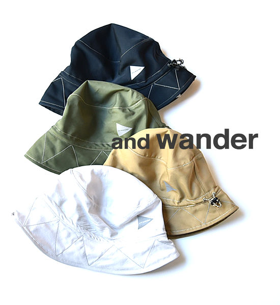 "【and wander】 アンドワンダー cotton nylon ox hat ""4Color"" ※メール便可"