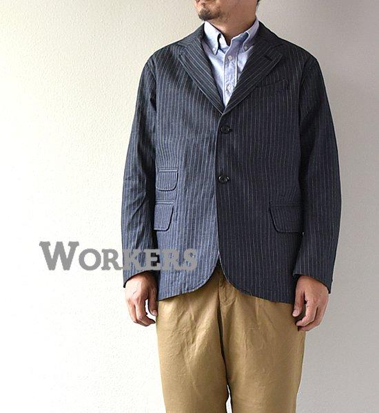 "【WORKERS】ワーカーズ Moonglow Jacket ""Stripe Denim"""
