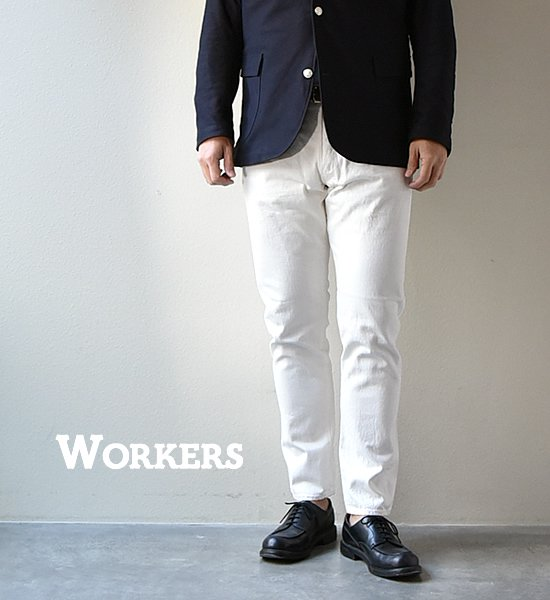 """★30%off【WORKERS】ワーカーズ Lot 802 Slim tapered """"White"""""""