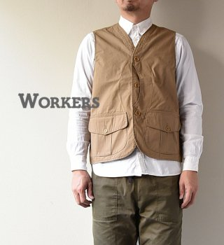 "<img class='new_mark_img1' src='//img.shop-pro.jp/img/new/icons13.gif' style='border:none;display:inline;margin:0px;padding:0px;width:auto;' />【WORKERS】ワーカーズ Hunting Vest ""2Color"""