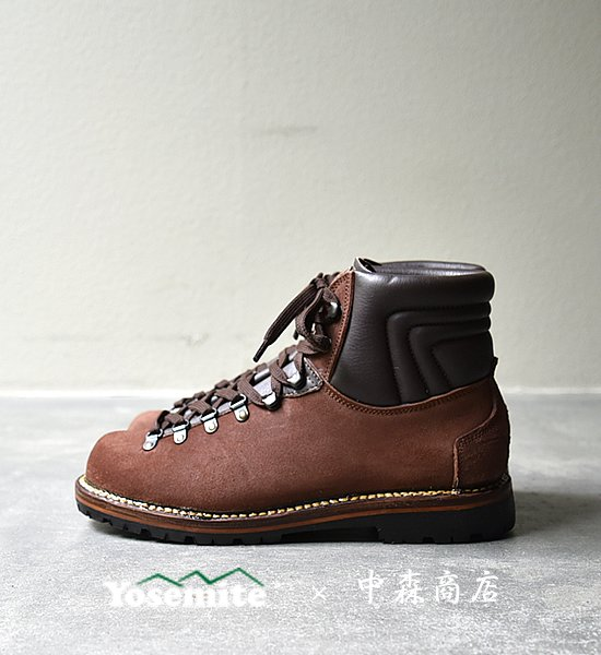 "【Eigerace Mountainboots 中森商店×Yosemite】 アイガーエイス×ヨセミテ AR-4 Light Mountain Boots ""Red Brown Suede"""