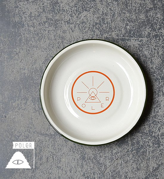 "【POLER】 ポーラー Golden Circle Enamel Plate ""Off White"""