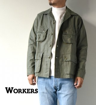 "<img class='new_mark_img1' src='//img.shop-pro.jp/img/new/icons13.gif' style='border:none;display:inline;margin:0px;padding:0px;width:auto;' />【WORKERS】ワーカーズ Fatigue Jacket ""Reversed Sateen,OD"""