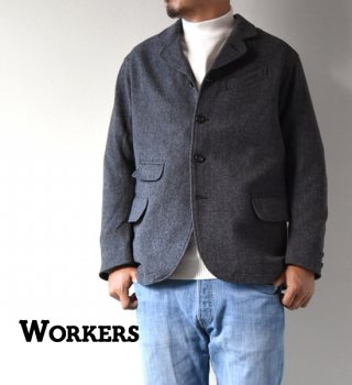 "<img class='new_mark_img1' src='//img.shop-pro.jp/img/new/icons13.gif' style='border:none;display:inline;margin:0px;padding:0px;width:auto;' />【WORKERS】ワーカーズ Creole Jacket ""Wool Pattern Tweed"""