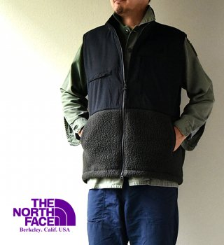 "【THE NORTH FACE PURPLE LABEL】 ノースフェイスパープルレーベル men's POLARTEC DenaliI Vest ""Charcoal"""