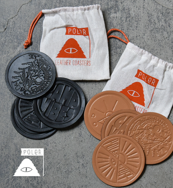 "【POLER】 ポーラー Leather Coasters ""2Color"" ※メール便可"