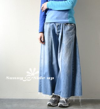 【Sunny side up】 サニーサイドアップ women's Remake 4 For 1 Wide Denim 5P