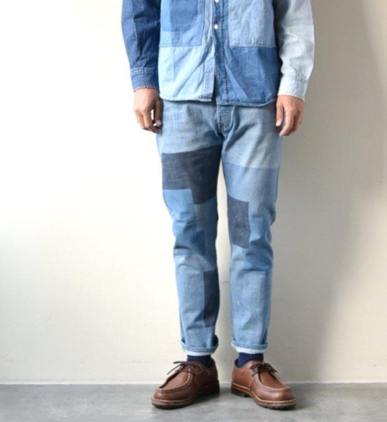 "【yoused】 ユーズド Spray art denim Pants ""Blue"""