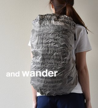 【and wander】アンドワンダー Sil Cover Bag