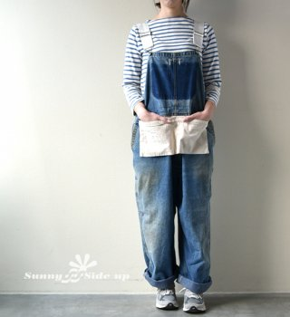【Sunny side up】 サニーサイドアップ Unisex Remake Denim Overall