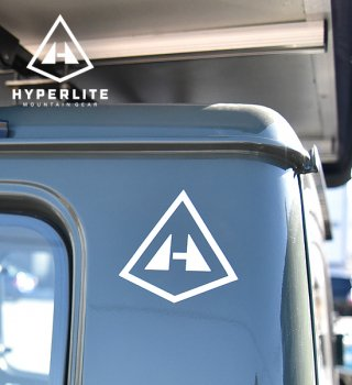 <img class='new_mark_img1' src='//img.shop-pro.jp/img/new/icons13.gif' style='border:none;display:inline;margin:0px;padding:0px;width:auto;' />【Hyperlite Mountain Gear】 HMG Logo Stickers