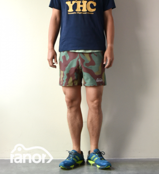 【ranor】ラナー unisex Big Camouflage Middle Shorts
