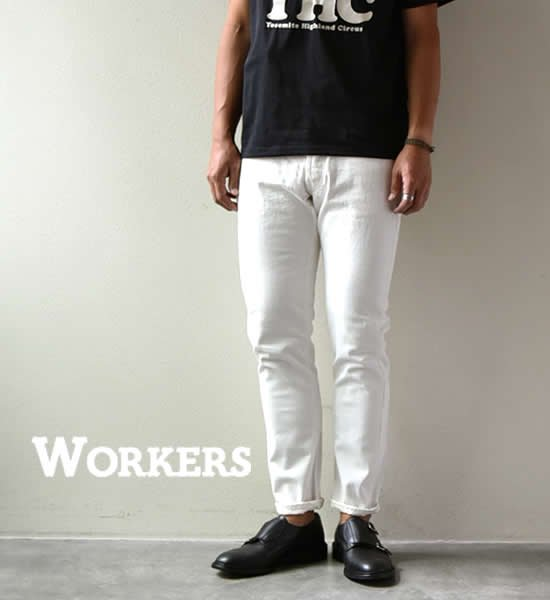"""★30%off【WORKERS】ワーカーズ Lot 802 Slim Tapered Jeans """"White"""""""