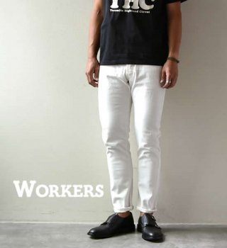 "【WORKERS】ワーカーズ Lot 802 Slim Tapered Jeans ""White"""