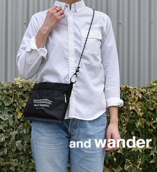 "【and wander】アンドワンダー twin pouch set ""3Color"""