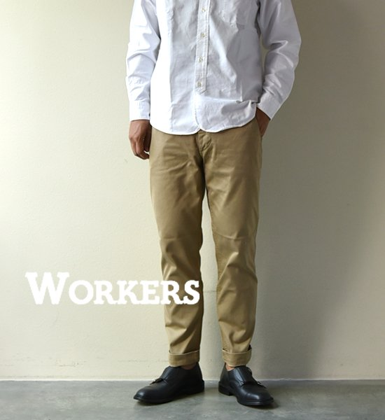 """【WORKERS】ワーカーズ Officer Trousers,Slim,Type2 """"Beige Chino"""""""