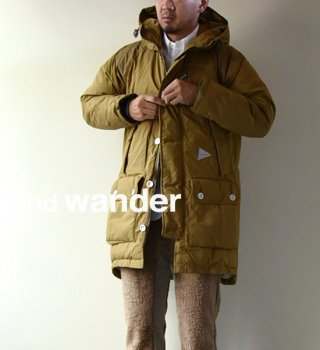 【and wander】アンドワンダー men's tough down coat